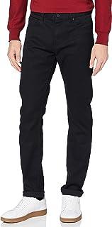 BOSS Mens Delaware BC-C Slim-fit Jeans in mid-Blue Distressed Stretch Denim