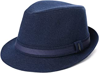 FancetAccessory 1920/1950 Homburg Gangster Fedora Men Manhattan Derby Hat Fancy Quality 58-60CM