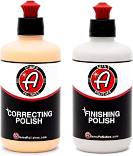 Adam's Correcting & Finishing Polish Combo - Correct and Polish Your Cars Paint for a Perfect, Scratch & Swirl Free Finish - Restore Your Vehicles Clear Coat in Two Steps (8oz Combo)