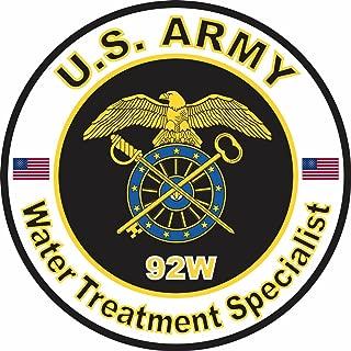 Military Vet Shop U.S. Army MOS 92W Water Treatment Specialist Window Bumper Sticker Decal 3.8