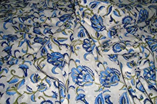 by Yard Hand Block Print Cotton Dressmaking Fabric Bundles for Quilting Sewing Crafting