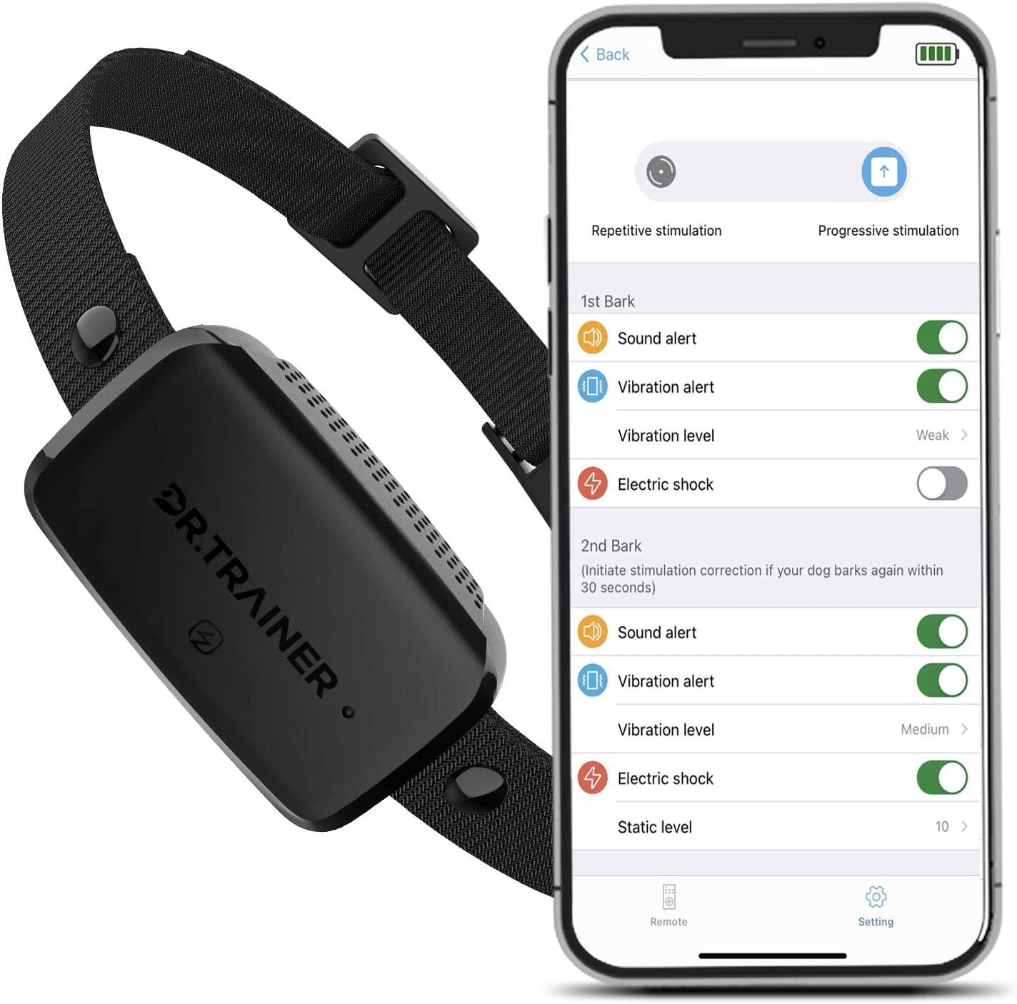 Dr.Trainer B1s Dog Bark Collar with Al sold out. El Paso Mall Control APP Waterproof