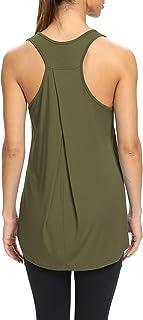 Bestisun Womens Yoga Shirts Workout Tank Tops Muscle Tank Long Workout Shirts Loose Tunic Workout Tops Athletic Wear Gym E...