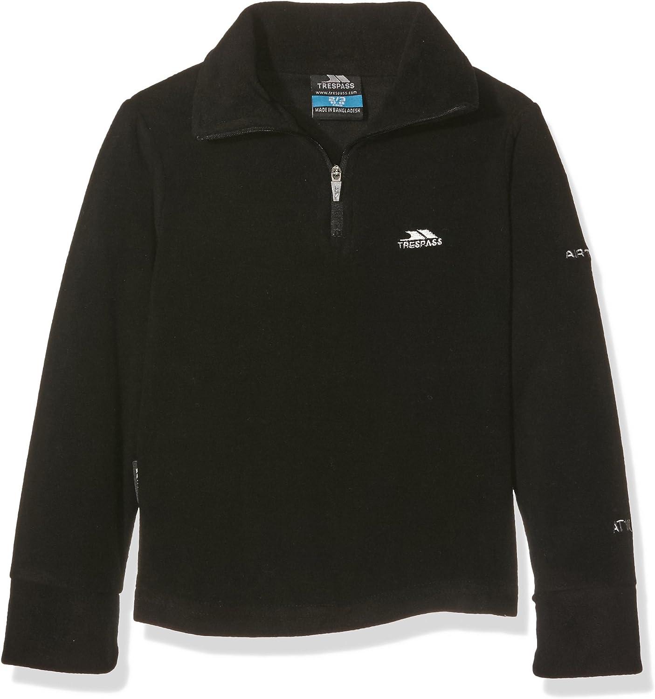 Trespass Masonville Boys Half Zip Micro Fleece Warm Winter Kids Long Sleeve Top Jumper