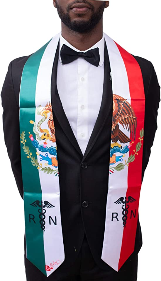 Mexican RN Graduation Stole and Sash, Beethinlay