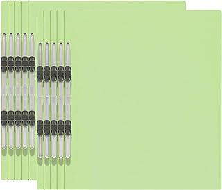 プラス エコノミー フラットファイル A4縦 2穴 10冊パック 79-356 グリーン