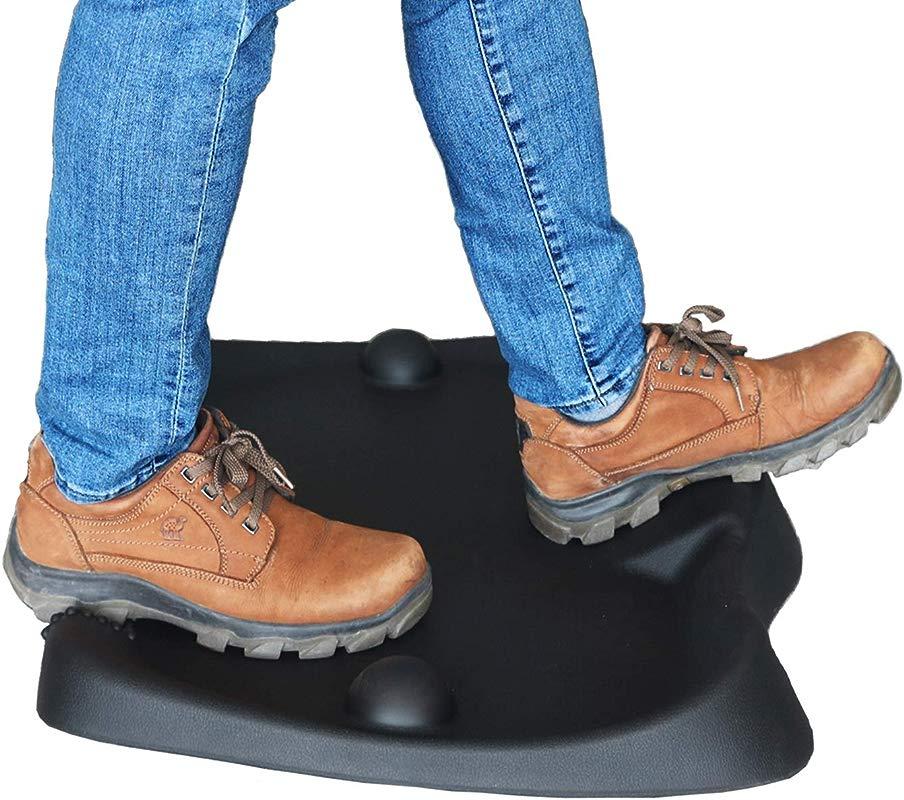 Aucuba Anti Fatigue Memory Foam Standing Desk Mat Office Work Mat Floor Mats For Stand Up Ergonomically Engineered With Calculated Terrain For Foot Massage 21 6X26 7Inch Black