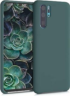 kwmobile telefoonhoesje compatibel met Huawei P30 Pro - Hoesje met siliconen coating - Smartphone case in blauwgroen