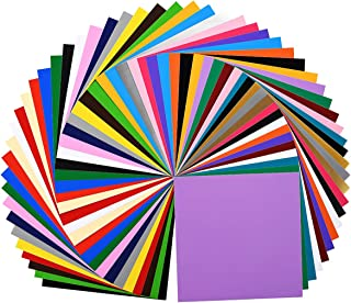 """IModeur Permanent Adhesive Backed Vinyl Sheets (40 Packs, 12""""x12"""") - 40 Assorted Colors (Matte and Glossy) for All Kinds of Weeding Machines, Printers, Letters, Car Decal, Decor Sticker"""