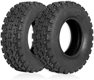"""Weize Set of 2 ATV Tires 21X7-10, 4 Ply, Sport Front UTV Tire 21-7-10 21x7x10, Fit All 10"""" Rims"""