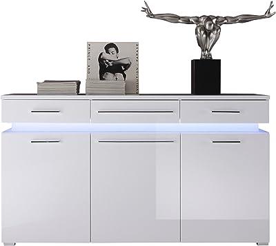 Maisonnerie 1310-873-01 Commode Armoire Blanc Ultrabrillant LxHxP 145x82x40 cm