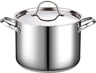 Cooks Standard 8-Quart Classic Stainless Steel Stockpot with Lid, 8-QT, Silver