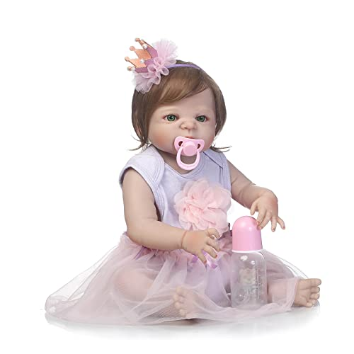 8e0d3a6d3 SCDOLL Reborn Baby Dolls Full Silicone Body 22inch 57cm Waterproof Newborn  Toddlers Dolls Lifelike Weighted Baby