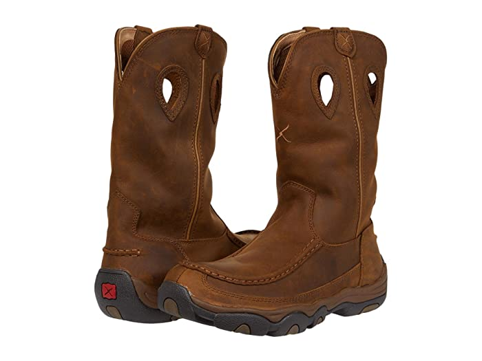 Twisted X  MHKB002 (Distressed Saddle/Saddle) Mens Shoes
