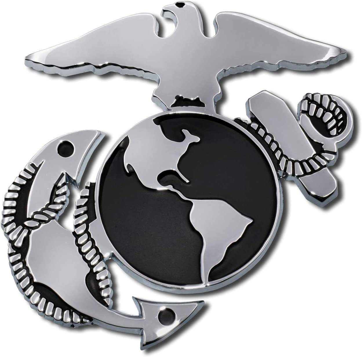 Elektroplate Marines Anchor Chrome Auto Emblem