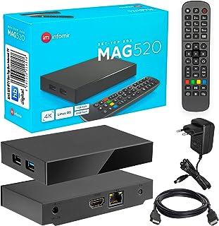 MAG 520 Original Infomir & HB-DIGITAL 4K IPTV Set TOP Box Multimedia Player Internet TV IP Receiver # 4K UHD 60FPS 2160p @...