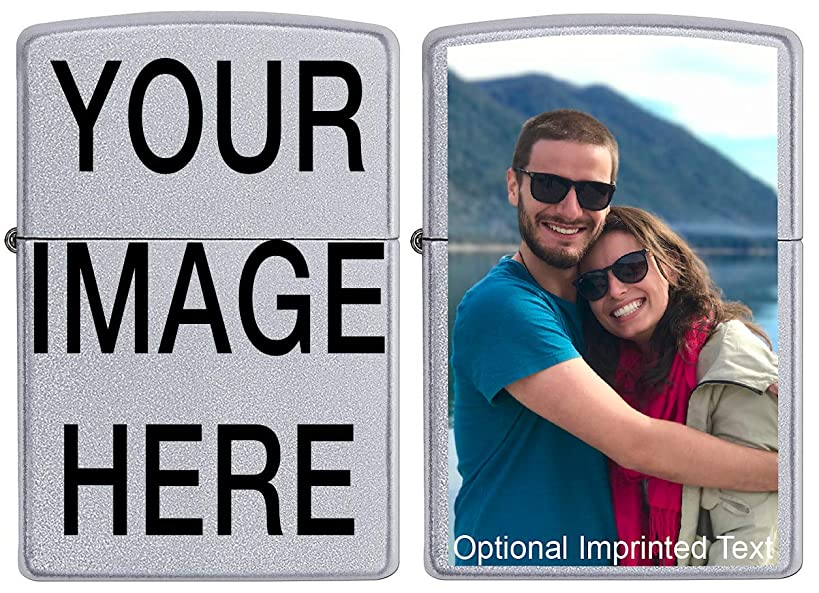 Custom ZIPPO! Personalize This Zippo Lighter with Your Image or Logo! Customized Zippo lighters Make a Great Wedding Gift Idea, Birthday Gift Idea, Gift for a Loved one or a Cool Gift for Yourself!