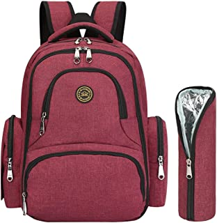 LEGEND AGE Baby Care Diaper Bag Multi-Function Waterproof Travel Backpack, Large Capacity, Stylish and Durable