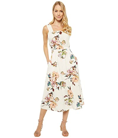 American Rose Embry Open Back Floral Dress (Ivory/Multi) Women
