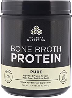 Ancient Nutrition, Bone Broth Protein, Pure, 15.7 Oz (445 G)
