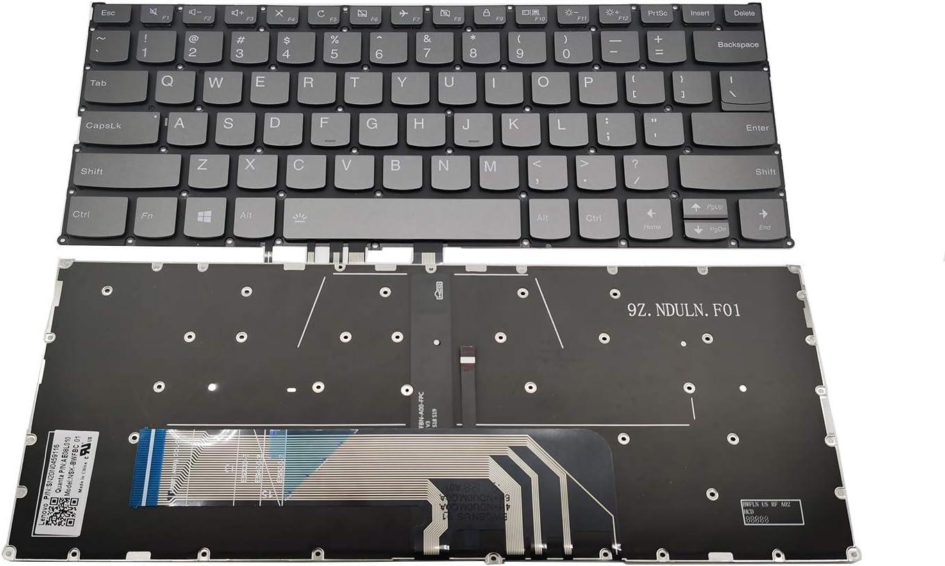 Replacement Backlit Keyboard Compatible with for Lenovo Yoga 730-13IKB 730-13IWL 730-15IKB 730-15IWL, Flex 6-14ARR Flex 6-14IKB Series Laptop US Layout