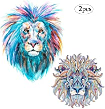 Lion Patches Heat Transfers Iron on Stickers for Clothes Jeans Jackets T-Shirt Sweatshirt Dresses DIY Decorations Large Animal Decals