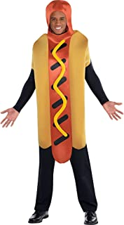 AMSCAN Hot Diggity Hot Dog Halloween Costume for Adults, Standard, with Armholes