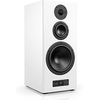 Nubert nuPro A-600 Lowboardlautsprecher   Lautsprecher für Stereo & Musikgenuss   Heimkino & HiFi Qualität auf hohem Niveau   aktive Kompaktbox mit 3 Wege Technik   Kompaktlautsprecher Weiß   1 Stück