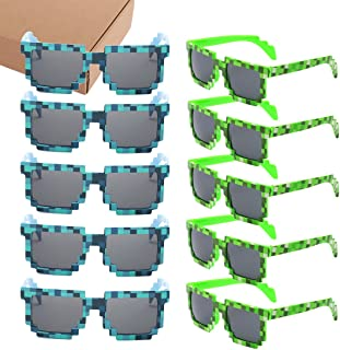 kilofly 10pc 8-Bit Pixel UV Protect Gamer Sunglasses...