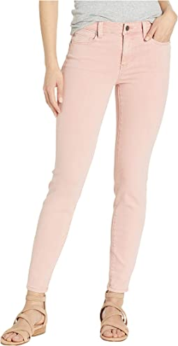 Piper Hugger Ankle Skinny Jeans in Misty Rose