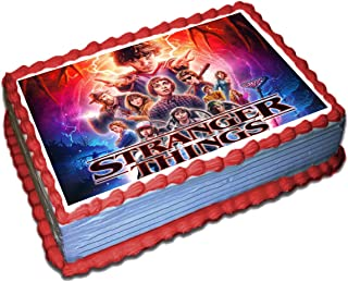 Stranger Things Edible Cake Toppers Icing Sugar Paper 8.5 x 11.5 Inches Sheet Edible Frosting Photo Birthday Cake Topper Fondant Transfer (Best Quality Printing)