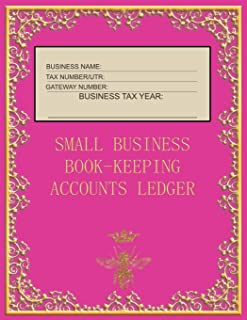 Small Business Book-Keeping Accounts Ledger: Large Book-keeping ledger for the small business and self-employed - Pink and...