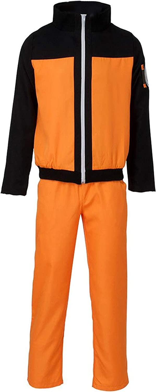 Ranking TOP11 price US Size Adult Anime Black Cosplay Pants Costume Orange Top