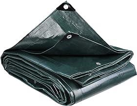 MVPower Afdekzeil, 4 x 5 m 280 g/m² PE-zeildoek met oogjes, universeel zeil, waterdichte zonwering en weerbestendig afdekz...