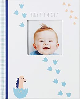 Carter's BD4-23286 Tiny But Mighty Dinosaur Baby Memory Book Journal, 6.4'' W x 7.5'' L