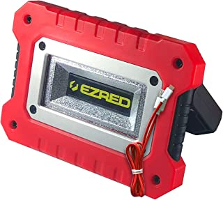EZ RED XLM500-RD 500 lm Micro-USB Rechargeable Magnetic Logo Work Light, Black/Red