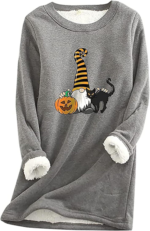 Halloween Cute Dwarf Print Soldering Women Long Casual Winter Tops New popularity Sleeve