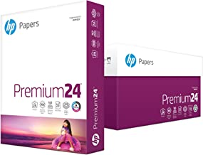 HP Printer Paper, Premium24, 8.5x11, Letter, 24lb Paper, 98 Bright - 10 Ream Case / 5,000 Sheets - Presentation Paper (112400C)