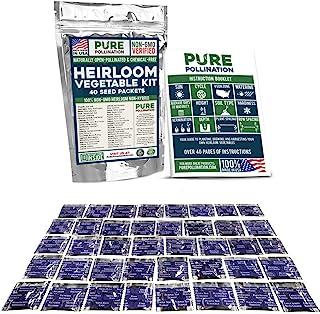 16،500 بسته بذر نباتی غیر GMO Heirloom Survival Garden 40 Variety Pack