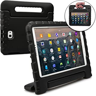Cooper Dynamo [Rugged Kids Case] Protective Case for Samsung Tab A 10.1 (2016) | Child Proof Cover with Stand, Handle, Screen Protector (Black)