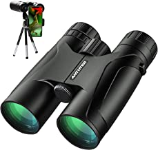 12X50 Powerful Binoculars, High Power HD Binocular for Adults with Smartphone Holder & Tripod, Waterproof Binoculars with Durable and Clear FMC BAK4 Prism Binoculars for Bird Watching, Camping, Hiking
