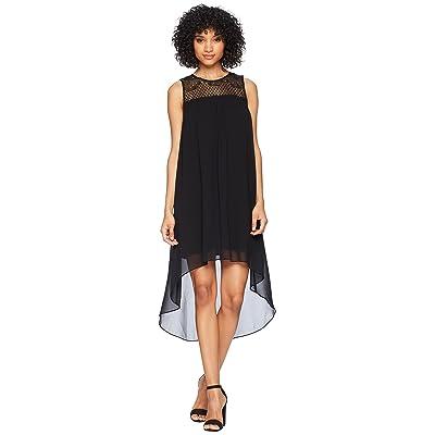kensie Crepe Chiffon Dress KS5K8216 (Black) Women