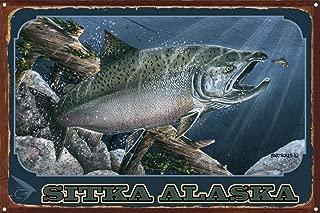 Sitka Alaska Rustic Metal Art Print by Dave Bartholet (12
