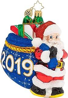 Christopher Radko Santa's 2019 Delivery Christmas Ornament, Multicolor