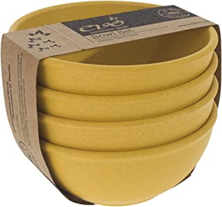 EVO Sustainable Goods 16 oz. Bowl Set, Yellow