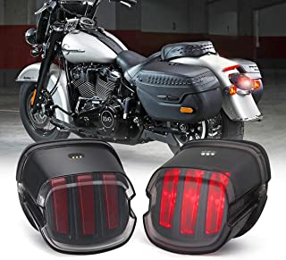 Harley Tail Light [Eagle Claw Design] DOT Approved Brake Running Lights Motorcycle LED Taillight for Harley Sportster Dyna Softail Touring Road Glide Road King (1 PCS, Black)