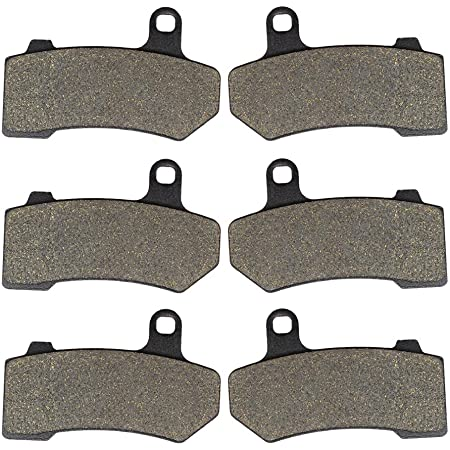 Sixity Front Rear Organic Brake Pads 2014-2015 for Harley Davidson FLHX Street Glide Set Full Kit Complete