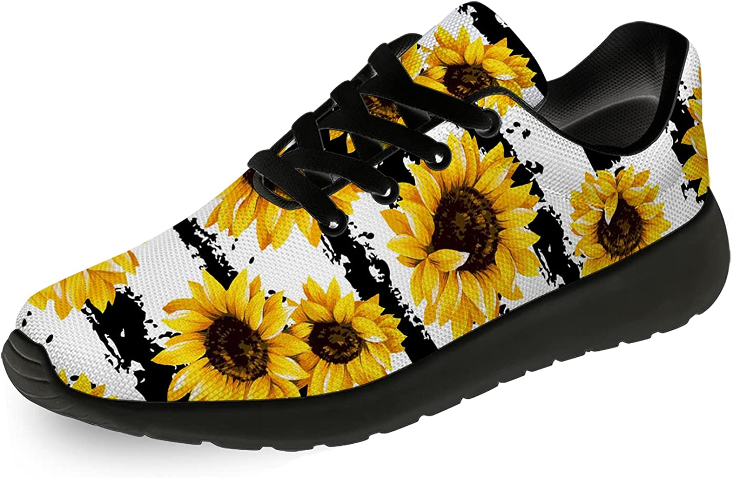Popular standard SEAL limited product Ciadoon Womens Girls Sunflower Casual Running Shoes Joggin