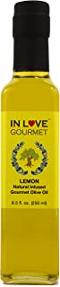 In Love Gourmet Lemon Natural Flavor Infused Olive Oil 250ML/8.5oz An Excellent Dressing on Fish, Chicken, Salads