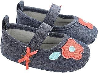 [Domybest] ベビーシューズ 幼児靴 女の子 キッズ 滑り止め 歩く練習 赤ちゃん 柔らかい 可愛い 快適 ソフトボトム マジックテープ 出産お祝い 春 夏 フラワー リボン 人気